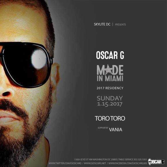 Oscar G (Made In Miami) with Vanie at Toro Toro DC