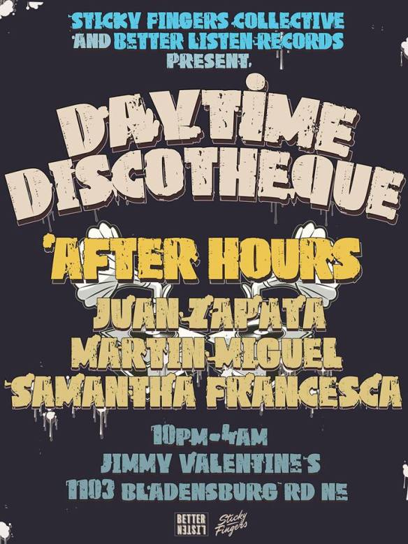Discothèque After Hours with Juan Zapata, Martín Miguel, Samantha Francesca at Jimmy Valentine's Lonely Hearts Club