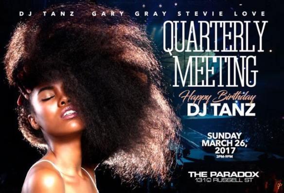 Quarterly Meeting Happy Bday Dj Tanz with Teddy Douglas, DJ Biskit, DJ Tanz, DJ Jamal & DJ Shannon Parker at The Paradox, Baltimore
