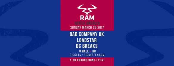Bad Company UK, Loadstar, DC Breaks (RAM Tour DC) at U Street Music Hall