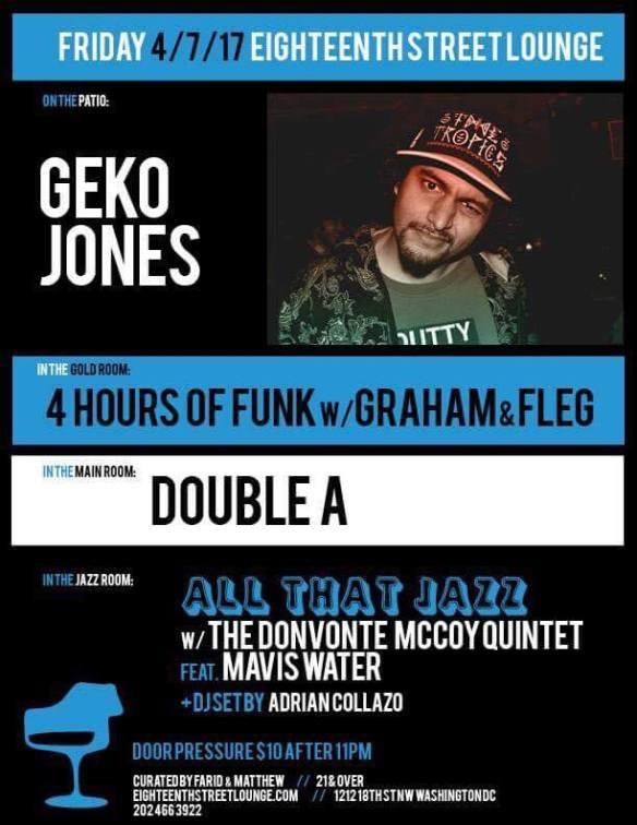 Graham Hatke & Fleg, Double A and Adrian Collazo at Eighteenth Street Lounge