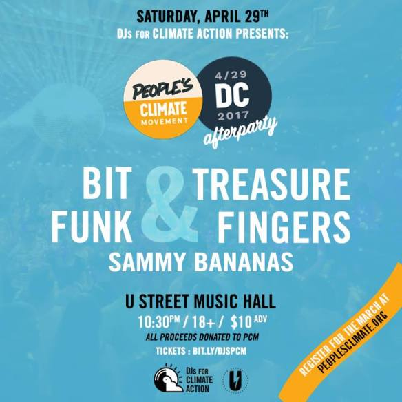 Climate March Afterparty: Bit Funk & Treasure Fingers and Sammy Bananas at U Street Music Hall