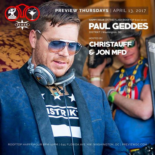 Preview Rooftop Happy Hour with Paul Geddes at Flash