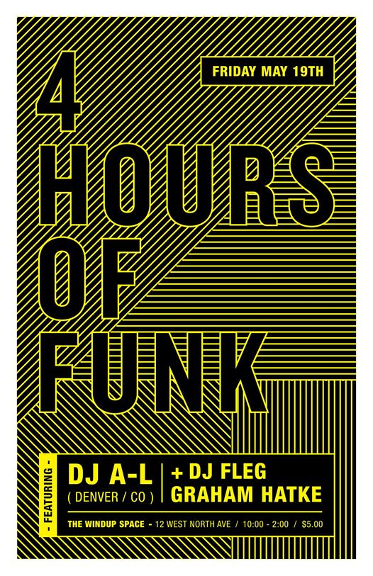 4 Hours of Funk with DJ A-L, DJ Fleg & Graham Hatke at The Windup Space