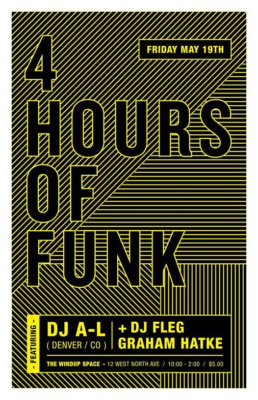 4 Hours of Funk with DJ A-L, DJ Fleg & Graham Hatke at The Windup Space