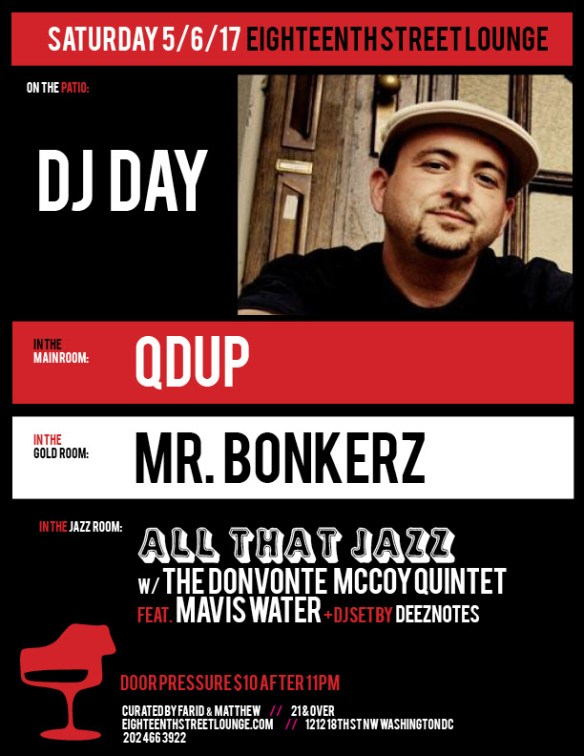 ESL Saturday with Dj Day, Qdup, Mr Bonkerz and Deeznotes at Eighteenth Street Lounge