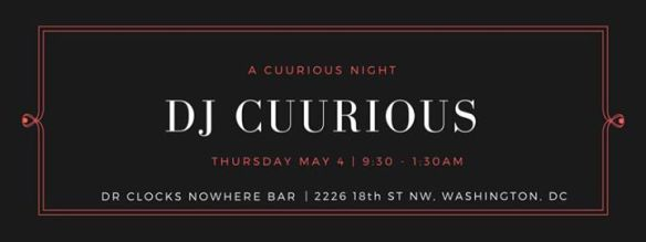A Cuurious Night with DJ Cuurious at Dr Clock's Nowhere Bar