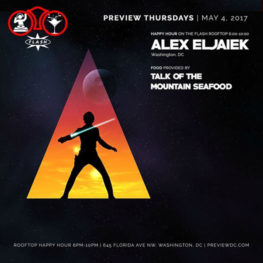 Preview Rooftop Happy Hour featuring Alex Eljaiek at Flash