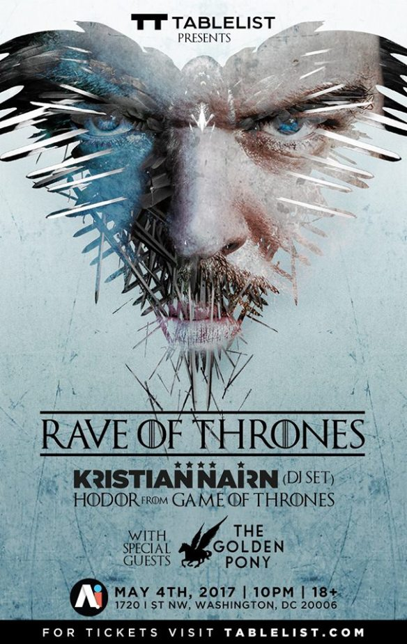 Rave of Thrones with Kristian Nairn and The Golden Pony at A.i.