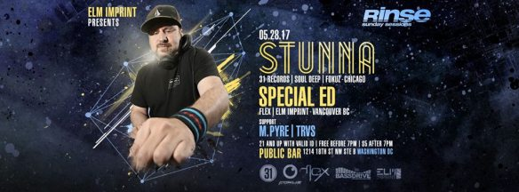 Rinse (Sunday Sessions) with Stunna, Special ED, M.Pyre & TRVS at Public Bar