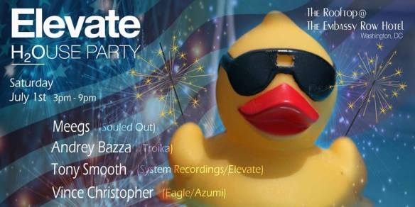 Elevate Rooftop Pool Party (Independence Day Edition) with Megs, Andrey Bazza, Tony Smooth & Vince Christopher at Embassy Row Hotel