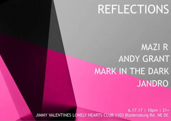 Reflections with Mazi R, Andy Grant, Mark in the Dark and Jandro at Jimmy Valentine's Lonely Hearts Club