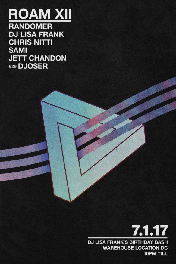 ROAM XII: Randomer, DJ Lisa Frank, Chris Nitti, Sami & Jett Chandon B2B Djoser at Warehouse Location