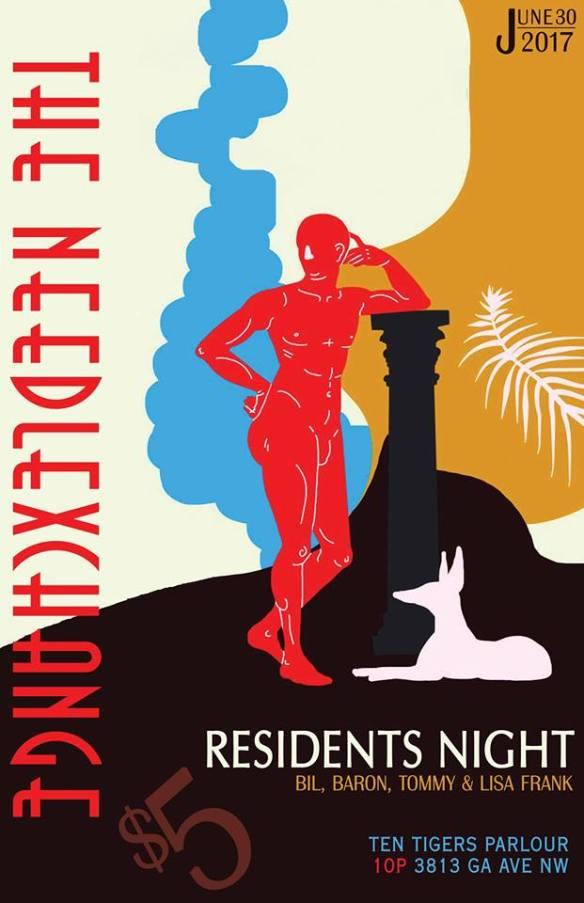 The NeedlExchange Residents Night with Bil Todd, Baronhawk, Tommy Cornelis & Dj Lisa Frank at Ten Tigers Parlour
