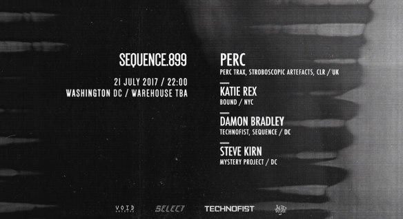 SEQUENCE.899 with Perc, Katie Rex, Damon Bradley & Steve Kirn at Warehouse Location
