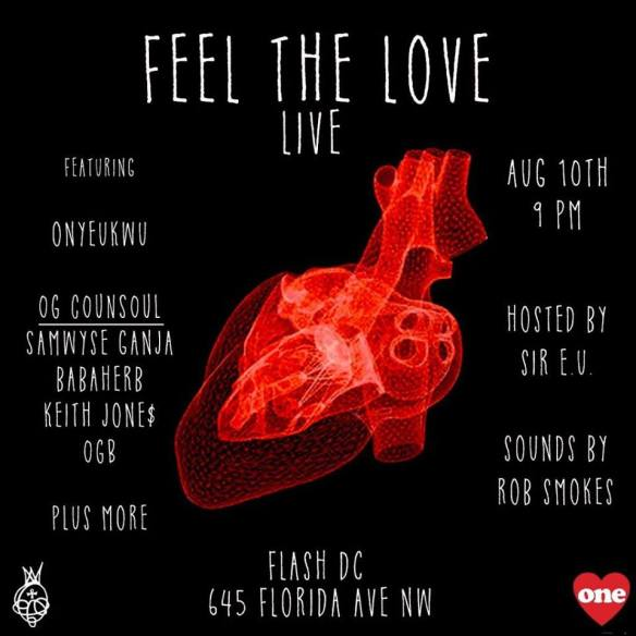Feel the Love Live featuring Sir E, The OG CounSoul & Onykeukwu at Flash Bar