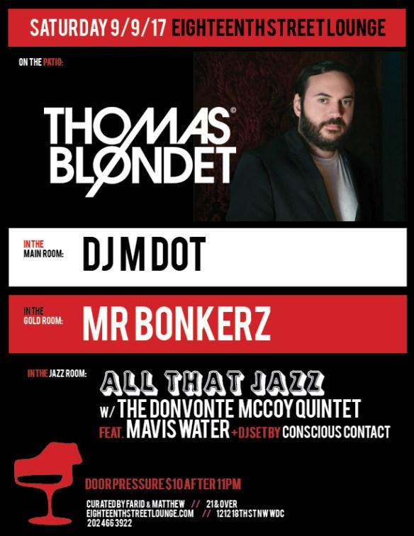 ESL Saturday with Thomas Blondet, DJ M Dot, Mr Bonkerz & Conscious Contact at Eighteenth Street Lounge