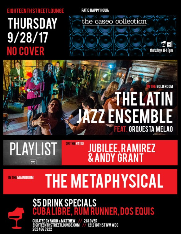 Playlist with Jubilee, Ramirez & Andy Grant at Eighteenth Street Lounge