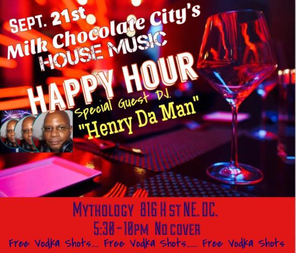 House Music Happy Hour with Henry Da Man at Mythology Restaurant & Lounge