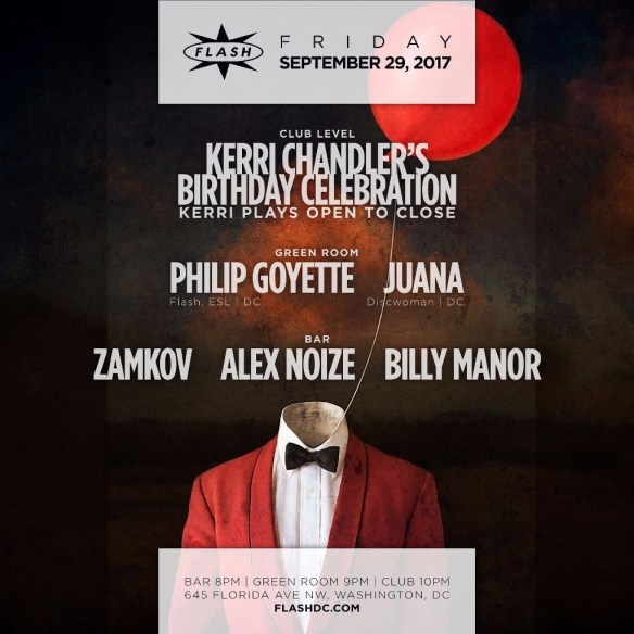 Kerri Chandler's Birthday Celebration at Flash with Zamkov, Alex Noize & Billy Manor in the Flash Bar