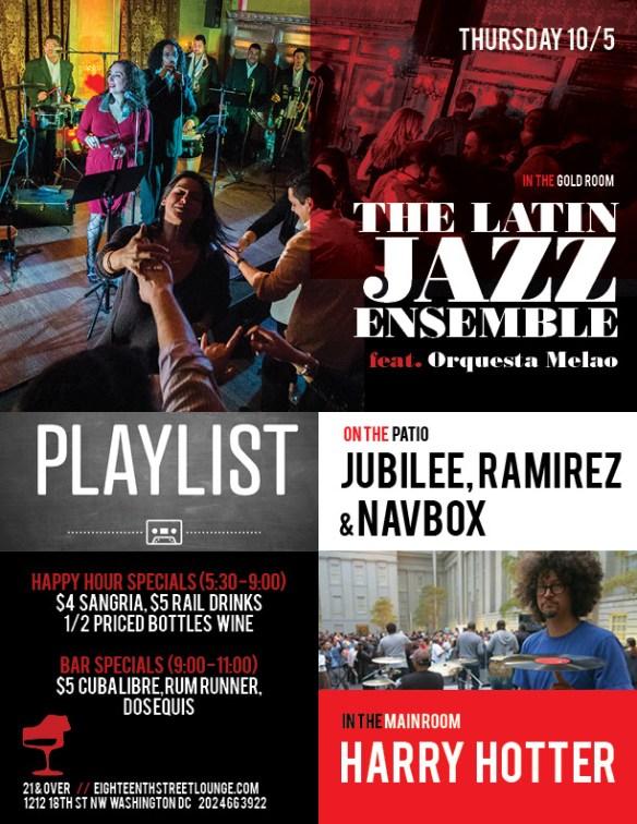 Playlist with Jubilee, Ramirez & Navbox at Eighteenth Street Lounge