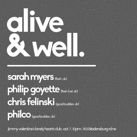 Alive & Well with Sarah Myers, Philip Goyette, C Felinski, & Philco at Jimmy Valentine's Lonely Hearts Club