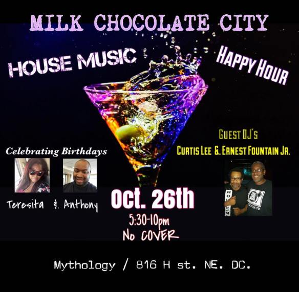 House Music Happy Hour with DJ Curtis Lee & Earnest Fountain Jr at Mythology Restaurant & Lounge