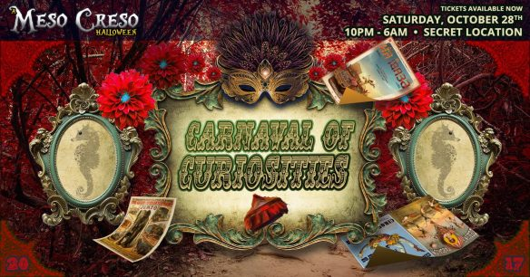 A Meso Creso Halloween: Carnaval of Curiosities with Soohan, Illexxandra, Anandroid, Beatrix, Mettabbana, Raha Wala & v:shal Kanwar at Warehouse Location