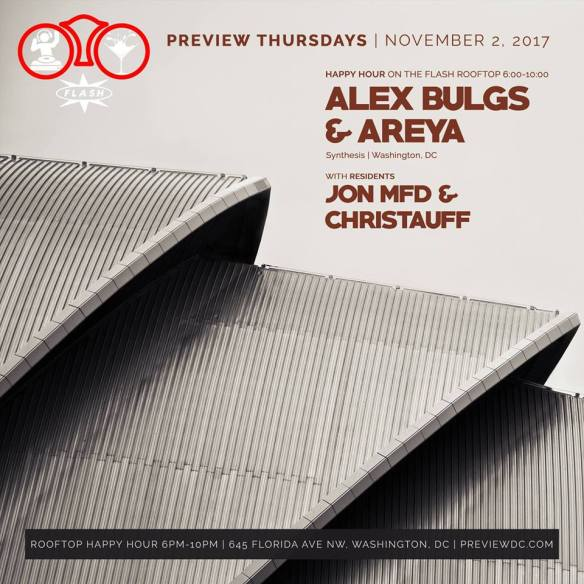 Preview Happy Hour with Alex Bulgs & Areya at Flash