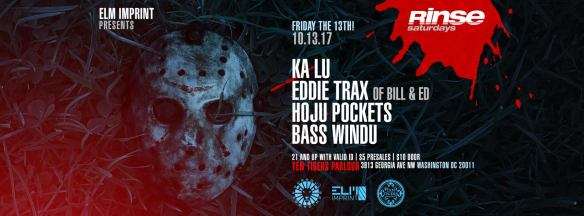 Rinse Saturday Sessions with Ka Lu, Eddie Trax, Hoju Pockets & Bass Windu at Ten Tigers ParlourRinse Saturday Sessions with Ka Lu, Eddie Trax, Hoju Pockets & Bass Windu at Ten Tigers Parlour
