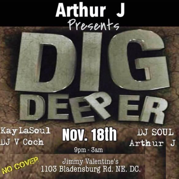 Dig Deeper with with KayLaSoul, DJ V Coch, DJ Soul & Arthur J at Jimmy Valentine's Lonely Hearts Club