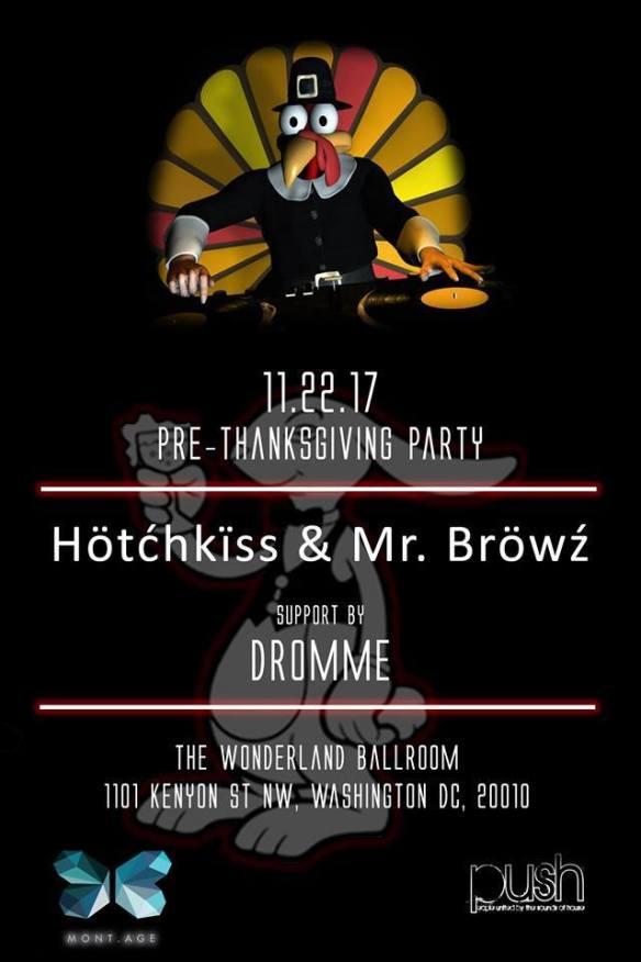 Pre-Thanksgiving Day Party at Wonderland feat PUSH musik & Dromme at Wonderland Ballroom