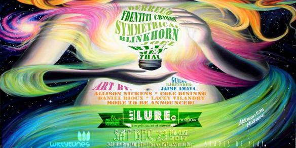 ArtLure at Mellow Mushroom (Winter Solstice Edition) with Derreuq, Joel Blumenthal, Blinkhorn, Symmetrical, Ydentiti Crisis at Mellow Mushroom