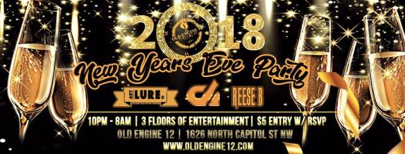 Old Engine 12 2018 NYE Party with DJ Erica, Fred Maslaki, Marcello Dellaccio, Mr Wright, PerShan, Tim Cook, Will Johnston & YunGeeZay at Old Engine 12