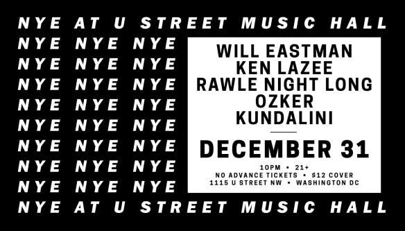 NYE at U Street Music Hall