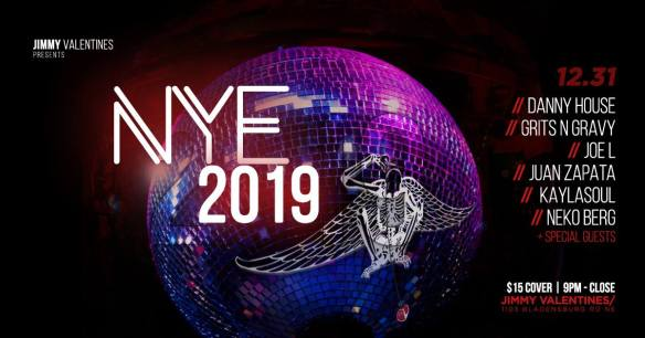 Jimmy Valentine's New Year's Eve 2019