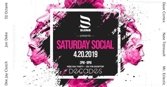 blend presents saturday social