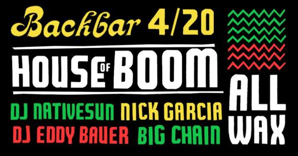 house of boom at backbar