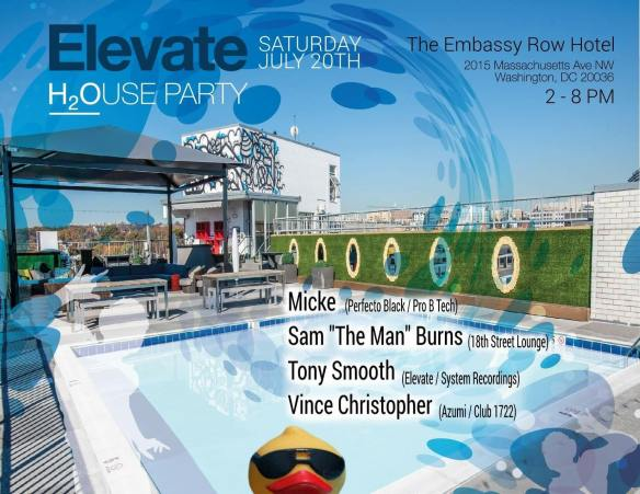 elevate rooftop pool party