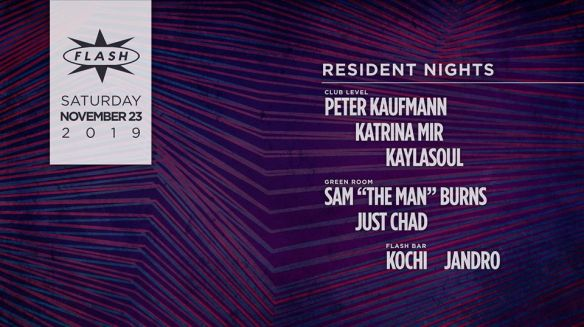 resident nights at flash with Peter Kaufman and Katrina Mir