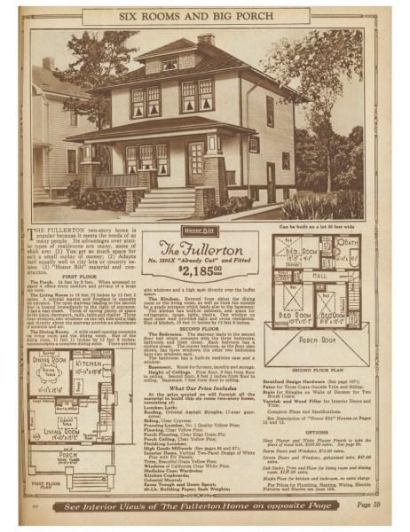 Fullerton - 1925 Sears Honor Bilt Homes