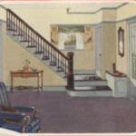 Sears Fullerton-entry-closet-bench-stairs-1925 catalog image
