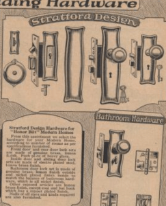 "Sears ""Stratford"" door hardware (1925 catalog)"