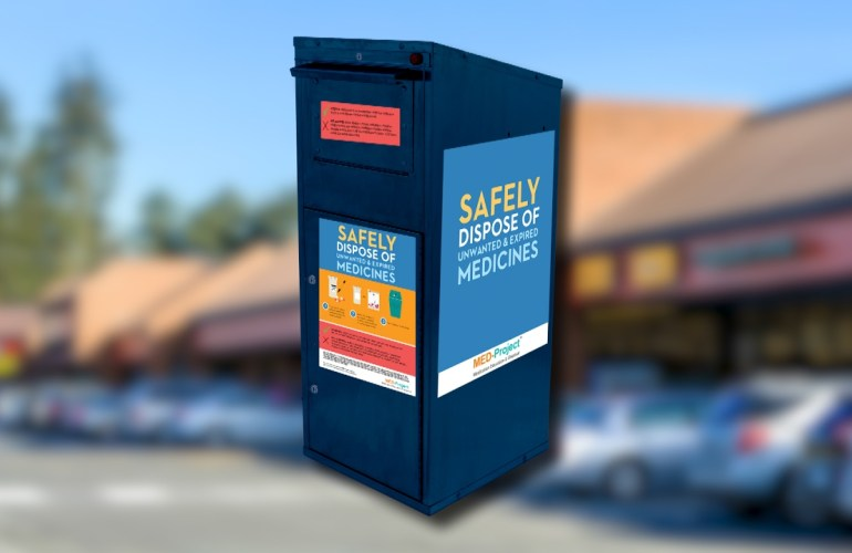 Safe medicine return box