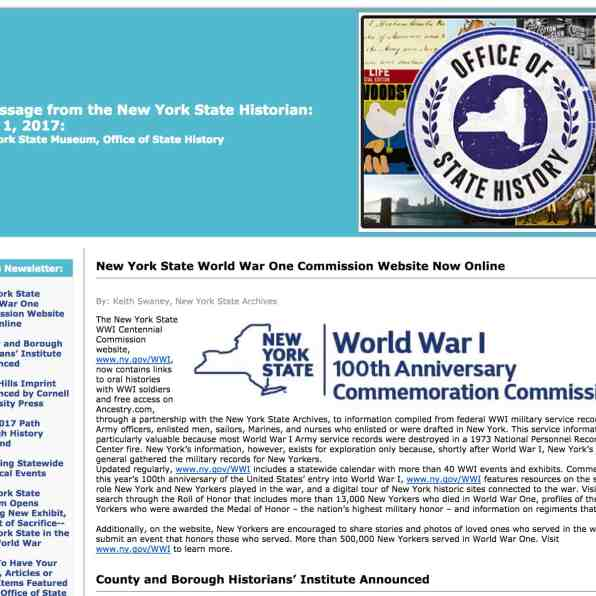 NYS WWI site