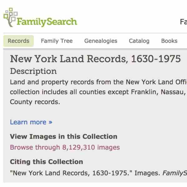 COUNTY LAND RECORDS FAMILY SEARCH