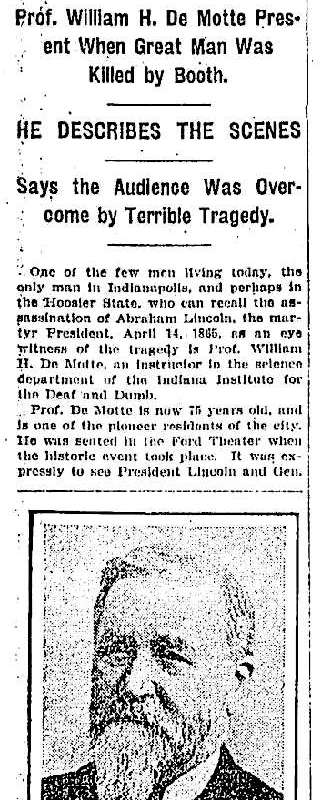 DeMotte Lincoln Clipping