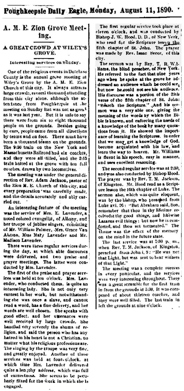 Wileys Grove AMEZion 1890