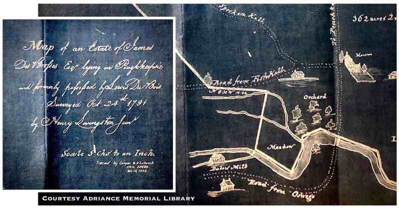 Dubois farm, reconstruction of 1791 map