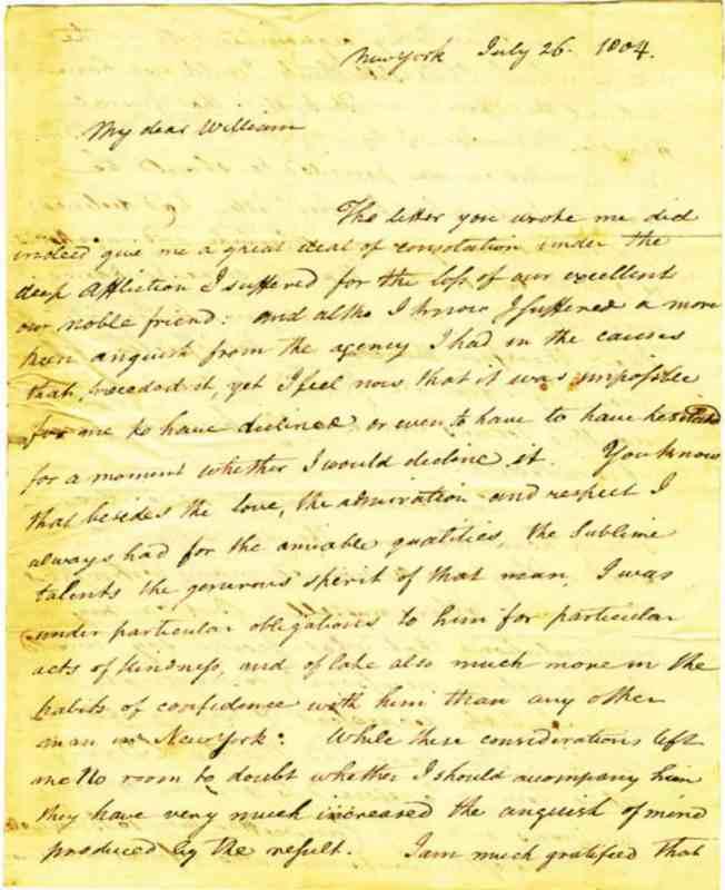 Pendleton to Bard 1804 26JUL